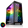 Game Max Polaris Black RGB 4 x 12cm RGB Fans Tempered Glass Side & Front Panels  - Alternative image