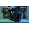 Game Max Precision Gaming Case Tempered Side RGB Controller Double Rainbow Ring - Alternative image