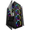 Game Max Predator RGB Full Tempered Glass Gaming Case MB SYNC 3pin - Alternative image