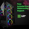 Game Max Predator RGB Full Tempered Glass Gaming Case MB SYNC 3pin - Alternative image