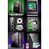 GameMax Predator RGB Full Tempered Glass Gaming Case MB SYNC 3pin - Alternative image