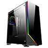 Game Max Shadow RGB Mid-Tower Tempered Glass Gaming Case - Alternative image