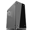 GameMax Sirius Black Mid-Tower RGB 4 x 12cm RGB Fans Tempered Glass Side & Front Panels - Alternative image