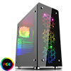 View more info on GameMax Sirius Black Mid-Tower RGB 4 x 12cm RGB Fans Tempered Glass Side & Front Panels...
