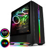 GameMax Solar Black RGB Midi Tempered Glass Gaming Case MB SYNC 3pin - Alternative image