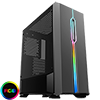 Game Max Solar Black RGB Midi Tempered Glass Gaming Case MB SYNC 3pin - Alternative image