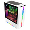 GameMax Solar White RGB Midi Tempered Glass Gaming Case MB SYNC 3pin - Alternative image