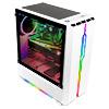 GameMax Solar White RGB Midi Tempered Glass Gaming Case MB SYNC 3pin - Alternative image