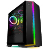 GameMax Starlight RGB Mid-Tower Gaming Case Rainbow Strip and Rear Fan Sync Hub Glass Side Panel - Alternative image
