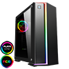 View more info on Game Max Starlight RGB Mid-Tower Gaming Case Rainbow Strip and Rear Fan Sync Hub Glass Side Panel...