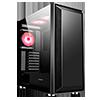 GameMax Stealth Gaming Case 3x ARGB Fan+Hub+MB Sync TG Side Panel - Alternative image