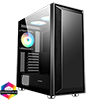 View more info on GameMax Stealth Gaming Case 3x ARGB Fan+Hub+MB Sync TG Side Panel...