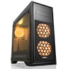 GameMax Titan Black Mid-Tower PC Gaming Case with 2 x RGB Front 1 x Rear Fans & Remote - Alternative image