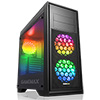 View more info on Game Max Titan Black PC Gaming Case with 2 x RGB Front 1 x Rear Fans & Remote...