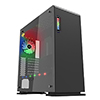 Game Max Vega Black Case With RGB Strip & PWM Controller Tempered Glass Sides - Alternative image