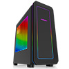 Game Max Vegas Black with 2 x 12cm Front Fans with 7 Colour LED Fascia - Alternative image