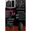 GameMax View ARGB Sync Gaming Case 2xLED Strips 3xFans 3pin Hub TG Front/Side - Alternative image