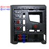 Game Max Volcano Gaming Black PC Case 2 x RGB Front Fans & Remote Control - Alternative image