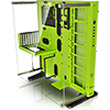 View more info on Thermaltake Core P5 Green Edition Mid Tower ATX Case with Acrylic Side Window...
