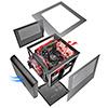 Thermaltake Core V1 Mini-ITX Cube Case Front 20cm Fan 2 x USB3 Side Window  - Alternative image