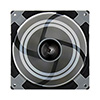 Aerocool Dead Silence 12cm Black Fan Dual Material/Colour FDB Fan 12.1dBA Retail - Alternative image