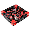 View more info on Aerocool Dead Silence 12cm Red LED Fan Dual Material/Colour FDB Fan 12.1dBA Retail...