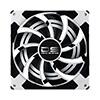 Aerocool Dead Silence 12cm White LED Fan Dual Material/Colour FDB Fan 12.1dBA Retail - Alternative image