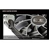Aerocool Dead Silence 14cm Black Fan Dual Material/Colour FDB Fan 10.8dBA Retail - Alternative image