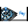 Aerocool Dead Silence 14cm Blue LED Fan Dual Material/Colour FDB Fan 10.8dBA Retail - Alternative image
