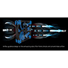Aerocool Dead Silence 12cm Blue LED Fan Dual Material/Colour FDB Fan 12.1dBA Retail - Alternative image