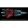 Aerocool Dead Silence 14cm Red LED Fan Dual Material/Colour FDB Fan 10.8dBA Retail - Alternative image