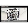 Aerocool Dead Silence 14cm White LED Fan Dual Material/Colour FDB Fan 10.8dBA Retail - Alternative image