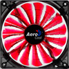 View more info on Aerocool Shark 12cm Quad Red LED Fan 15 Blade Fluid Dynamic Bearing 12.6dBA...