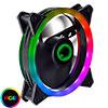 View more info on Game Max Dual Ring 16 LED 120mm Rainbow RGB Fan for Shadow & Phantom 6pin...