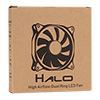 Unbranded Halo Dual Ring 22 LED 120mm Red Fan - Alternative image