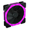 CiT Cosmic Halo Dual Ring Rainbow RGB 120mm Fan with 5V Addressable 3pin Header 3pin Power - Alternative image