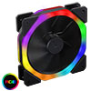 View more info on CiT Halo Dual Ring Rainbow RGB 120mm Fan with 5V Addressable 3pin Header 3pin Power ETA. 20th of November...