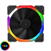 View more info on Unbranded Halo Dual Ring 18 LED 120mm Rainbow RGB Fan...