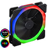 View more info on CiT Halo X Dual Ring RGB LED 12V Fan 4pin Plus 3pin Power Connector...