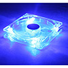 12cm Blue LED Fan 3Pin+4Pin Male/Female Connector Sleeve Bearing - Alternative image