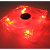 12cm Red LED Fan 3Pin+4Pin Male/Female Connector Sleeve Bearing - Alternative image