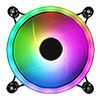 Raider Dual-Ring 16 LED 120mm Rainbow RGB Fan 5pin - Alternative image