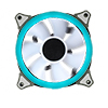 *Rainbow PWM Fan Controller 6pin with 2 x Rainbow RGB Ring 120mm Fans - Alternative image