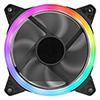 OEM Rainbow Ring 12cm Fan 4pin Molex 3pin White Box - Alternative image