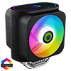 GameMax Gamma 600 Rainbow ARGB CPU Cooler Aura Sync 3 Pin - Alternative image