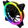 Game Max Velocity 12cm Rainbow ARGB Fan RTB 3pin M&F Aura Header 3pin/4pin Power - Alternative image