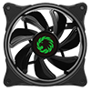Game Max Cyclone Dual Ring RGB Fan 4 pin Header 3 Pin Power Black Gloss - Alternative image