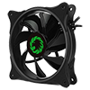 GameMax Cyclone Dual Ring RGB Fan 4 pin Header 3 Pin Power Black Gloss - Alternative image