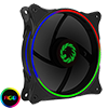 View more info on Game Max Cyclone Dual Ring RGB Fan 4 pin Header 3 Pin Power Black Gloss...