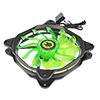 Game Max Eclipse Green Ring LED 12cm Cooling Fan With Hydraulic Bearings - Alternative image